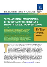 The Transnistrian Demilitarization in the Context of the Remodeling military-strategic Balance in Europe