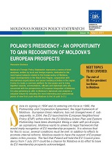 Poland's Presidency - An Opportunity to gain Recognition of Moldova's European Prospects
