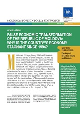 False Economic Transformation of the Republic of Moldova: Why is the Country's Economy stagnant since 1994?