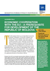Economic Cooperation with the EU – A Prerequisite for Development of the Republic of Moldova