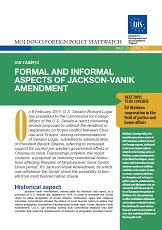 Formal and Informal Aspects of the Jackson-Vanik Amendment Cover Image