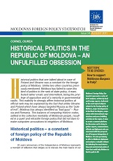 Historical Politics in the Republic of Moldova – An unfulfilled Obsession Cover Image