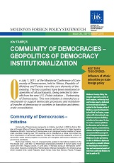 Community of Democracies – Geopolitics of Democracy Institutionalization
