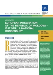 European Integration of the Republic of Moldova – Is it still a National Consensus?