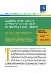 The Reset of Moldovan-Ukrainian Relations after 20 Years: Nothing is Agreed until Everything is Agreed