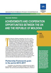 Achievements and Cooperation Opportunities between the UN and the Republic of Moldova Cover Image