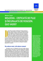 Moldova - Criticized by Fule and Encouraged by Rogozin. Quo vadis?