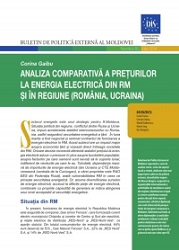 Comparative Analysis of Electricity Prices in the RM and in the Region (Romania, Ukraine)