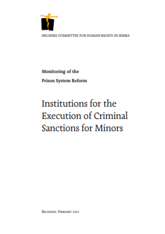 Institutions for the Execution of Criminal Sanctions for Minors