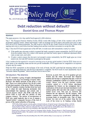 No. 233. Debt reduction without default? Cover Image