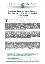 Eurozone Bank Recapitalisations: Pouring water into a leaky bucket