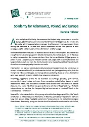 Solidarity for Adamowicz, Poland, and Europe