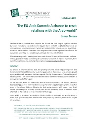 The EU-Arab Summit: A chance to reset relations with the Arab world?