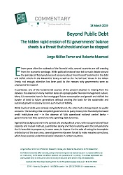 Beyond Public Debt - The hidden rapid erosion of EU governments' balance sheets is a threat that should and can be stopped Cover Image
