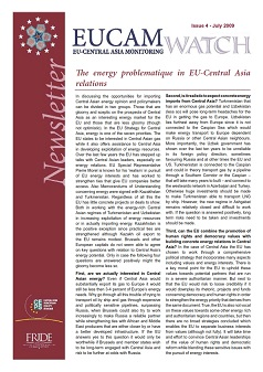 The energy problematique in EU-Central Asia relations
