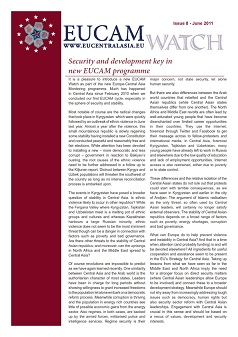 Security and development key in new EUCAM programme