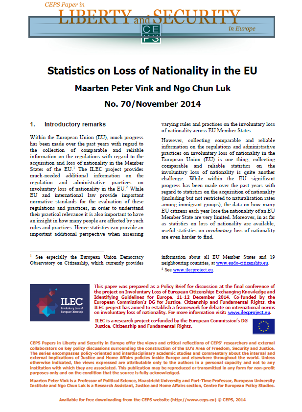 #70 Statistics on Loss of Nationality in the EU