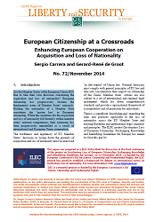 #72 European Citizenship at a Crossroads. Enhancing European Cooperation on Acquisition and Loss of Nationality