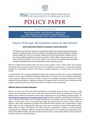 №172: Future of Europe: No Common Vision on the Horizon