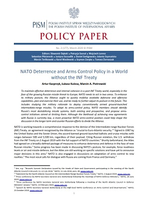 №177: NATO Deterrence and Arms Control Policy in a World without the INF Treaty