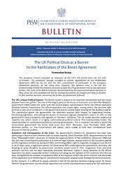 The UK Political Crisis as a Barrier to the Ratification of the Brexit Agreement