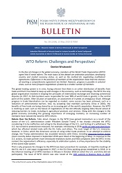 WTO Reform: Challenges and Perspectives