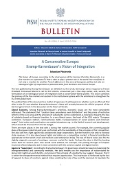 A Conservative Europe: Kramp-Karrenbauer's Vision of Integration