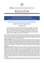 The UK Policy Paper on UK-EU Future Relations: Impact on Brexit Negotiations