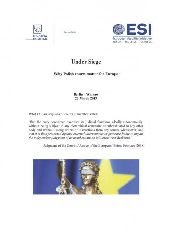 UNDER SIEGE. Why Polish courts matter for Europe Cover Image