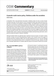 A pseudo-multi-vector policy. Moldova under the Socialists