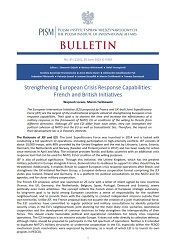 Strengthening European Crisis Response Capabilities: French and British Initiatives