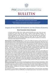 Impact of the COVID-19 Pandemic on the Chinese Economy