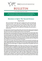 Elections in Spain: No Second Greece