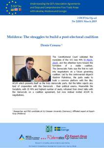 Moldova: The Struggles to build a post-electoral Coalition