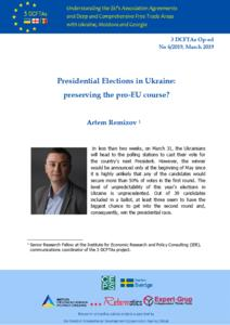 Presidential Elections in Ukraine: preserving the pro-EU course?