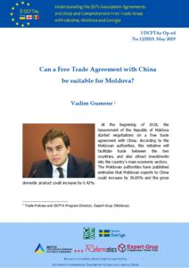 Can a Free Trade Agreement with China be suitable for Moldova?