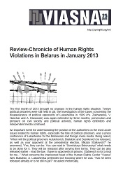Review-Chronicle of Human Rights Violations in Belarus in January 2013