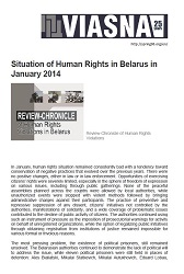 Review-Chronicle of Human Rights Violations in Belarus in January 2014