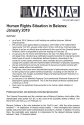 Review-Chronicle of Human Rights Violations in Belarus in January 2019