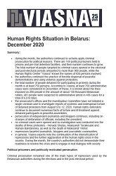 Review-Chronicle of Human Rights Violations in Belarus in January 2020