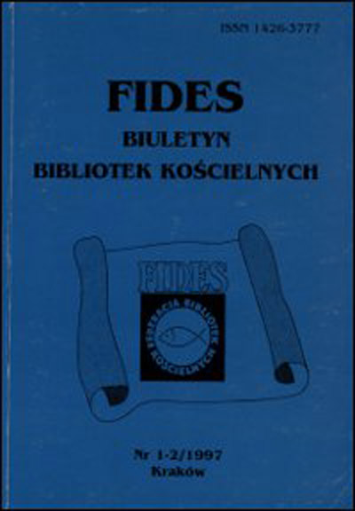 Addresses of affiliated libraries in the FIDES Federation of Church Libraries Cover Image