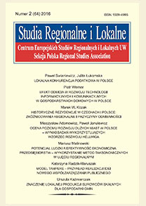 Regional innovation strategies - a challenge or a chance for Polish regions in integration perspective Cover Image