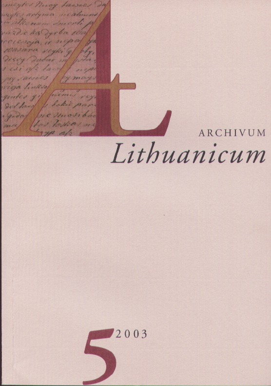 The graphemes <I>, <J> in Lithuanian texts of the eighteen and nineteenth centuries Cover Image