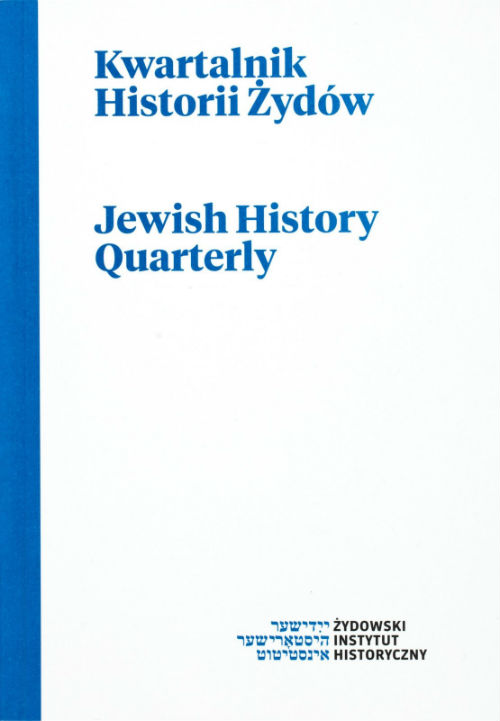 Jews in Mazovia towns in light of Prussian sources from late 18th and early 19th century Cover Image