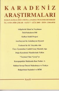 Some Records in the Trabzon Court Archives about Forming Family Institution in the XVIII. Century Cover Image