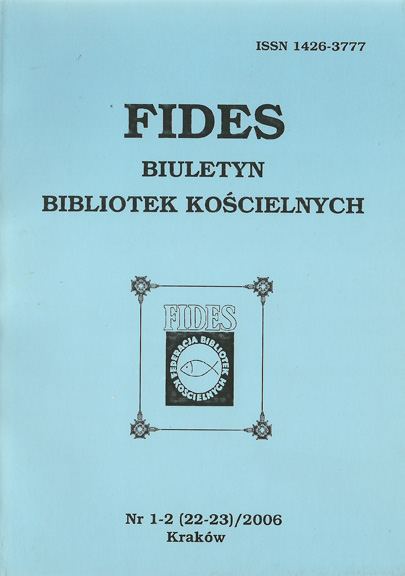 15 years of FIDES Federation of Church Libraries Cover Image