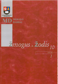 About the Word Accents in the Endings of the Cases Datyvus and Instrumentalis in the Eastern Lithuanian Subdialects of Utena Cover Image
