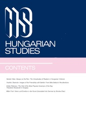Autobiographical reading: A new approach to the genre in 20th century Hungarian literature Cover Image