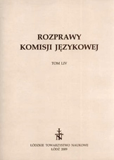 A note on Celtic elements in Polish vocabulary Cover Image
