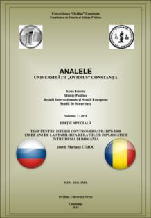 Russian-Romanian Relations in the Context of Romania's Independence War Cover Image